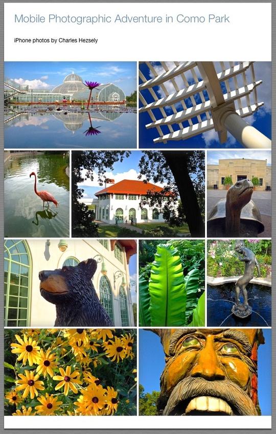 Mobile Photography Tips, Como Park, St. Paul, MN