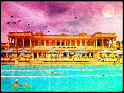 Szechenyi Baths, Budapest, Hungary iPhone Photo Art